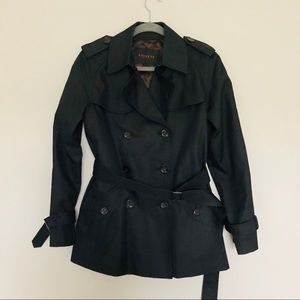 Coach Black Trench Coat